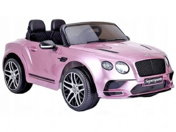 Bentley Continental Sports Metallic Pink Licenced 12v Electric Ride on Car + EVA Wheels